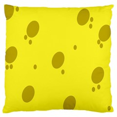 Hole Cheese Yellow Large Flano Cushion Case (one Side) by Jojostore