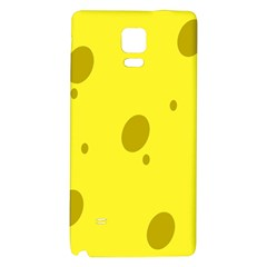 Hole Cheese Yellow Galaxy Note 4 Back Case