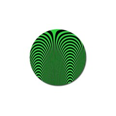 Green Optical Illusion Golf Ball Marker by Jojostore