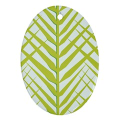Leaf Coconut Oval Ornament (two Sides) by Jojostore