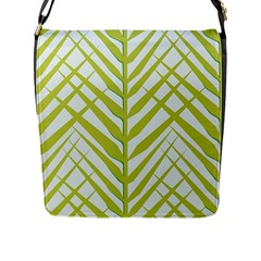 Leaf Coconut Flap Messenger Bag (l)  by Jojostore