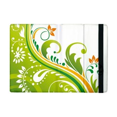 Leaf Flower Green Floral Apple Ipad Mini Flip Case by Jojostore