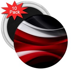 Lines Red 3  Magnets (10 pack)  by Jojostore
