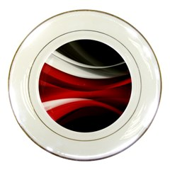 Lines Red Porcelain Plates by Jojostore