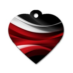 Lines Red Dog Tag Heart (two Sides) by Jojostore