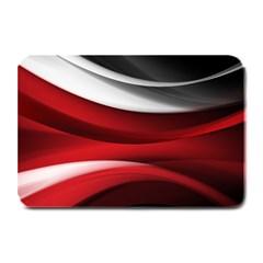 Lines Red Plate Mats by Jojostore