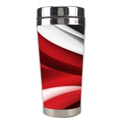 Lines Red Stainless Steel Travel Tumblers
