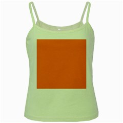 Orange Color Green Spaghetti Tank by Jojostore