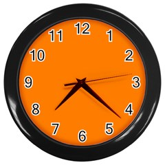 Orange Color Wall Clocks (black) by Jojostore