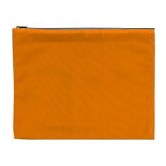 Orange Color Cosmetic Bag (xl) by Jojostore