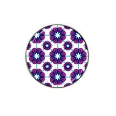 Link Scheme Analogous Purple Flower Hat Clip Ball Marker (4 Pack) by Jojostore