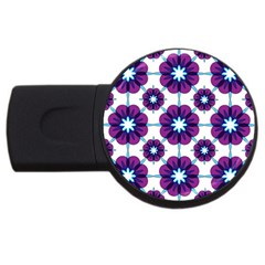 Link Scheme Analogous Purple Flower Usb Flash Drive Round (4 Gb) by Jojostore