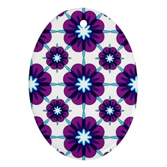Link Scheme Analogous Purple Flower Oval Ornament (two Sides) by Jojostore
