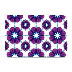 Link Scheme Analogous Purple Flower Plate Mats by Jojostore