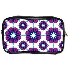 Link Scheme Analogous Purple Flower Toiletries Bags 2 Side by Jojostore