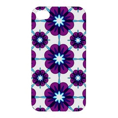 Link Scheme Analogous Purple Flower Apple Iphone 4/4s Hardshell Case by Jojostore