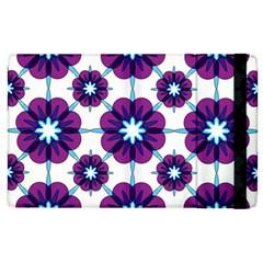 Link Scheme Analogous Purple Flower Apple Ipad 2 Flip Case by Jojostore
