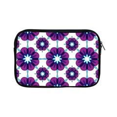 Link Scheme Analogous Purple Flower Apple Ipad Mini Zipper Cases by Jojostore