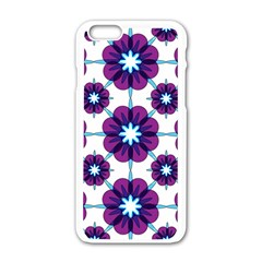 Link Scheme Analogous Purple Flower Apple Iphone 6/6s White Enamel Case by Jojostore