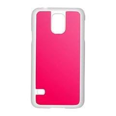 Pink Color Samsung Galaxy S5 Case (white) by Jojostore