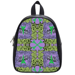 Paris Eiffel Tower Purple Green School Bags (small)  by Jojostore