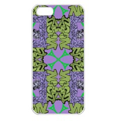 Paris Eiffel Tower Purple Green Apple Iphone 5 Seamless Case (white) by Jojostore