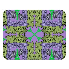Paris Eiffel Tower Purple Green Double Sided Flano Blanket (large)  by Jojostore