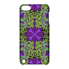 Paris Eiffel Tower Green Purple Apple Ipod Touch 5 Hardshell Case With Stand by Jojostore