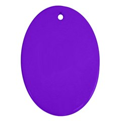 Purple Color Oval Ornament (two Sides) by Jojostore