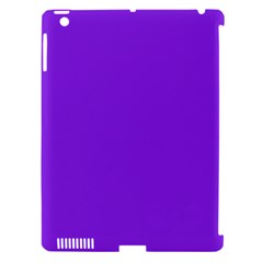 Purple Color Apple Ipad 3/4 Hardshell Case (compatible With Smart Cover) by Jojostore