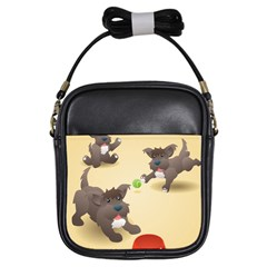 Puppy Dog Girls Sling Bags by Jojostore