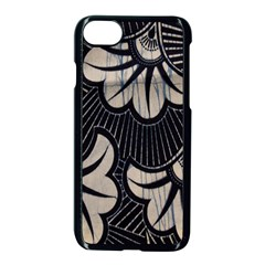 Printed Fan Fabric Apple iPhone 7 Seamless Case (Black)