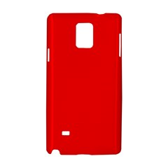 Red Color Samsung Galaxy Note 4 Hardshell Case by Jojostore
