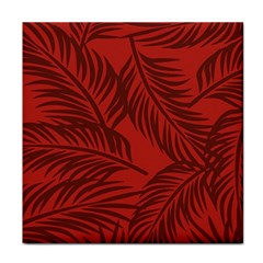 Red Palm Tile Coasters by Jojostore