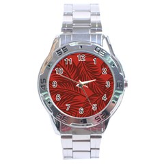 Red Palm Stainless Steel Analogue Watch by Jojostore