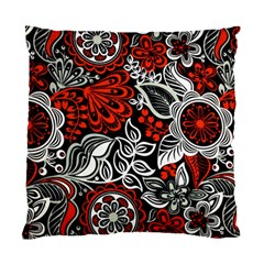 Red Batik Flower Standard Cushion Case (two Sides) by Jojostore
