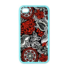 Red Batik Flower Apple Iphone 4 Case (color) by Jojostore