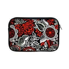 Red Batik Flower Apple Ipad Mini Zipper Cases by Jojostore