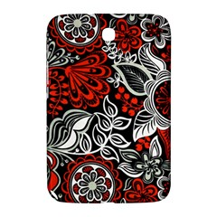 Red Batik Flower Samsung Galaxy Note 8 0 N5100 Hardshell Case  by Jojostore