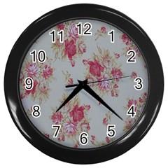 Rose Wall Clocks (black) by Jojostore