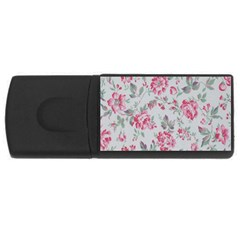 Rose Red Flower Usb Flash Drive Rectangular (4 Gb) by Jojostore