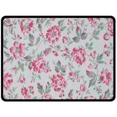 Rose Red Flower Double Sided Fleece Blanket (large)  by Jojostore