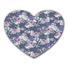 Simple Flower Heart Mousepads by Jojostore
