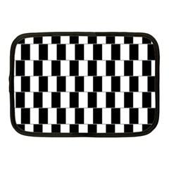 Wallpaper Line Black White Motion Optical Illusion Netbook Case (medium)  by Jojostore
