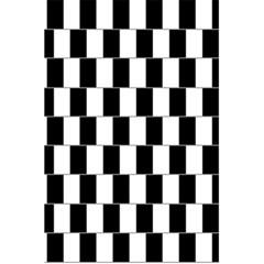 Wallpaper Line Black White Motion Optical Illusion 5 5  X 8 5  Notebooks by Jojostore