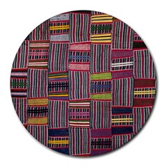 Strip Woven Cloth Color Round Mousepads by Jojostore
