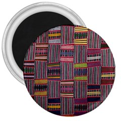 Strip Woven Cloth Color 3  Magnets by Jojostore