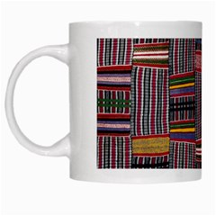 Strip Woven Cloth Color White Mugs by Jojostore