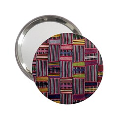 Strip Woven Cloth Color 2 25  Handbag Mirrors by Jojostore