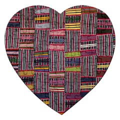 Strip Woven Cloth Color Jigsaw Puzzle (heart) by Jojostore